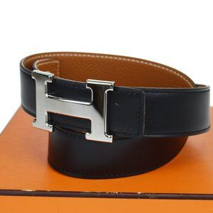 HERMES Constance H Reversible Buckle Belt Leather